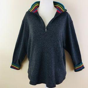 Robert Graham Shirts - Robert Graham Grey 1/4 Zip Pullover Sweater S